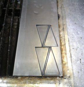 Треугольные шаблоны для конуса