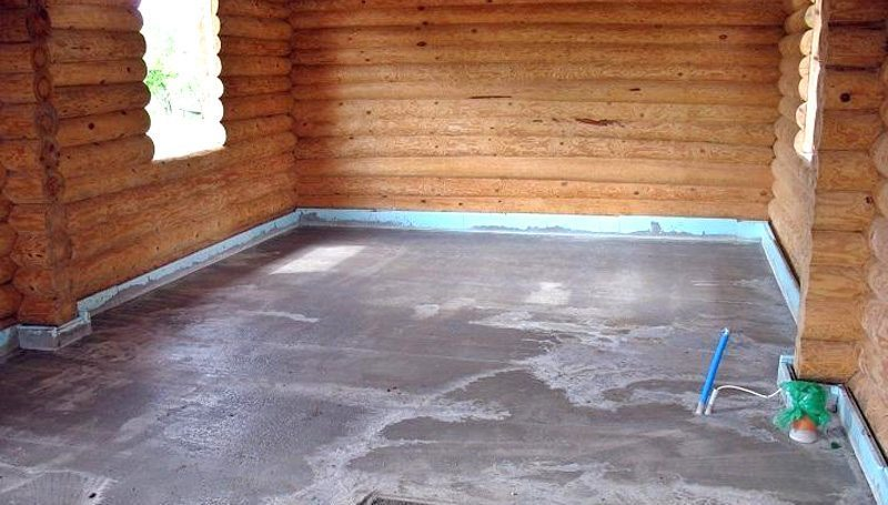 Бетонная стяжка поверх деревянного пола