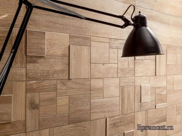 Керамогранитная плитка на стене