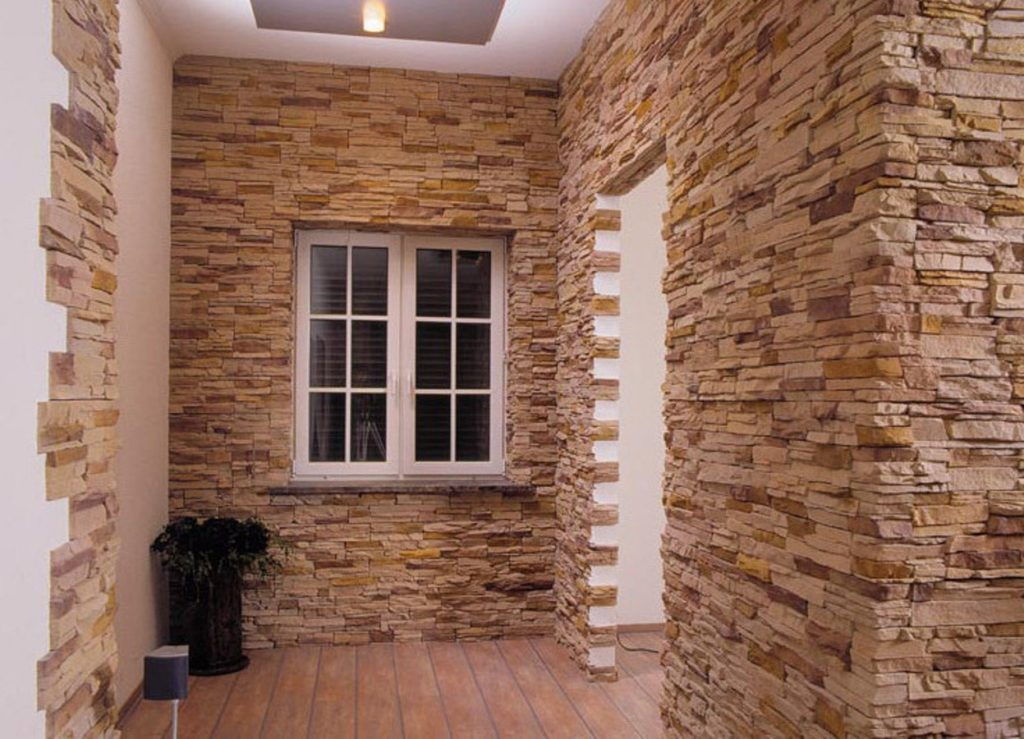 Декоративный искусственный камень для внутренней отделки