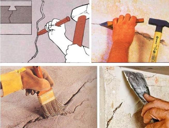 Шапклевание и заделка трещин