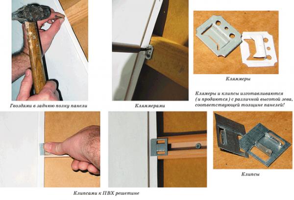 Монтаж панелей на каркас при помощи кляммеров