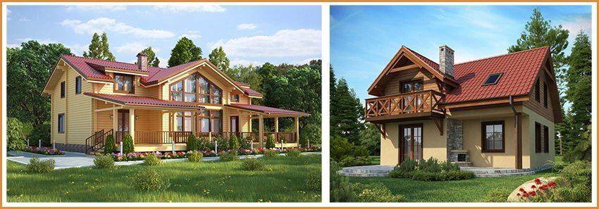 Дом из бруса и каркасный дом