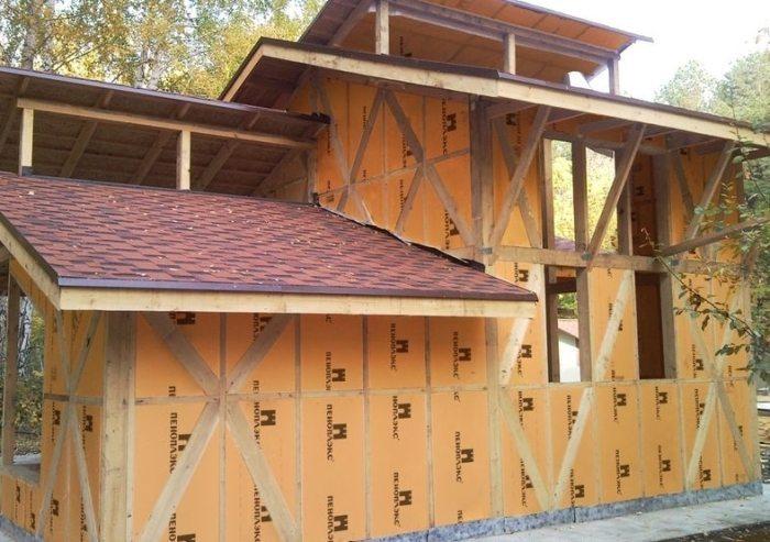 Деревянный дом, утепленный пенплексом снаружи