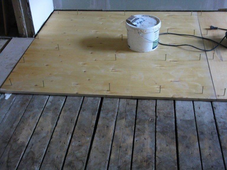 Как постелить дсп на деревянный пол