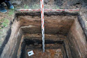 Исследование грунта в отрытом шурфе