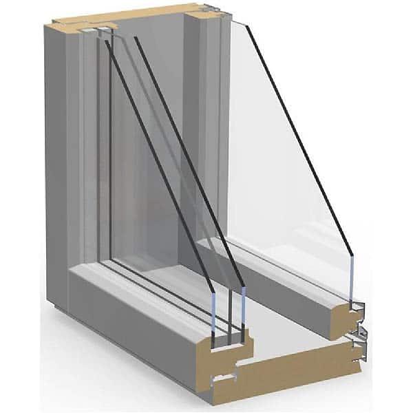 Шведское дерево-алюминиевое окно