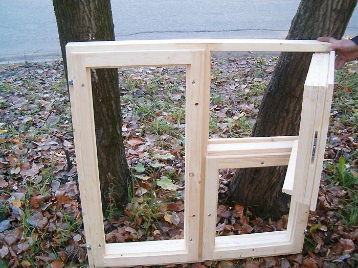 Изготовление окон из дерева