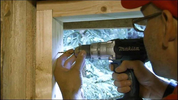 Монтаж деревянног окна
