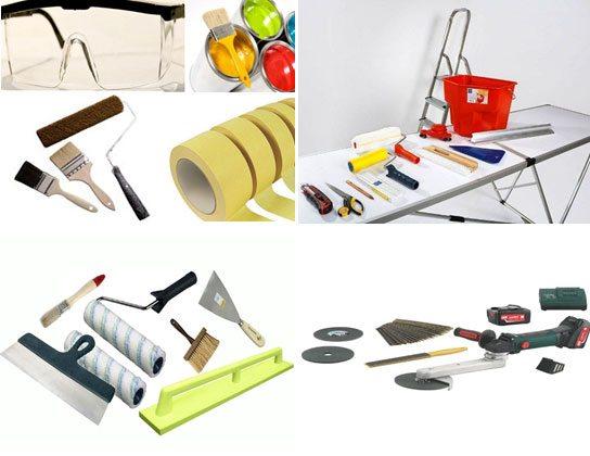 Инструменты для покраски окна