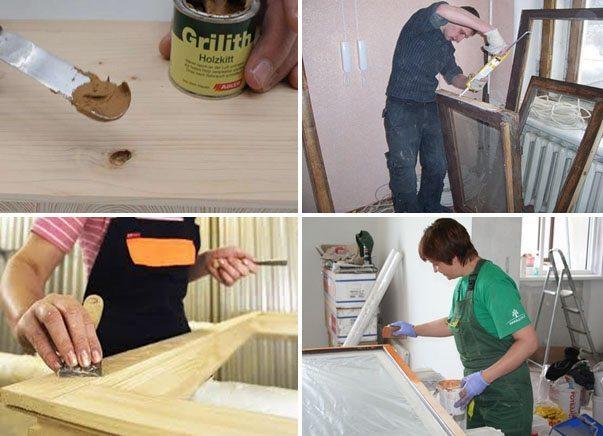 Грунтовка деревянной поврехности