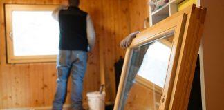 Остекление деревянного окна