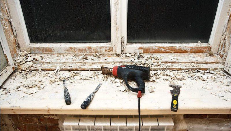 Как снять рамы с деревянного окна