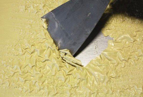 Удаление покрытия после обработки керосином