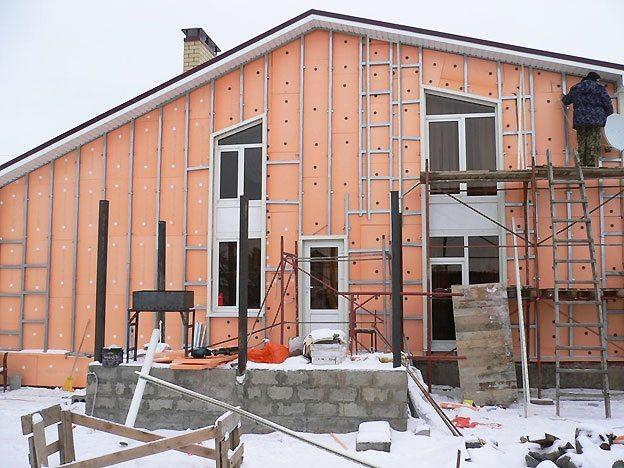 Утепление дома снаружи пеноплексом
