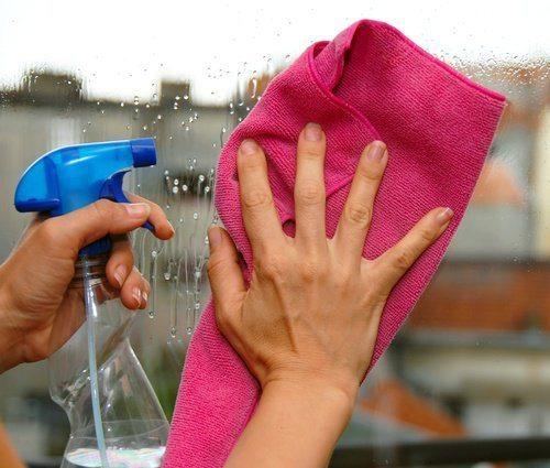 Тряпка для мытья стекла