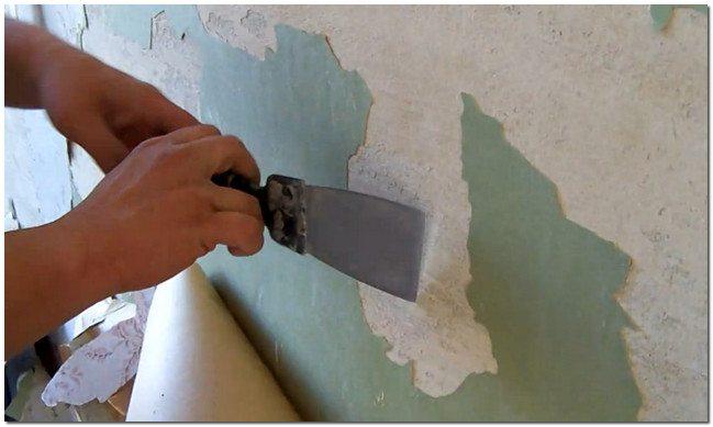 Удаление старой штукатурки со стены
