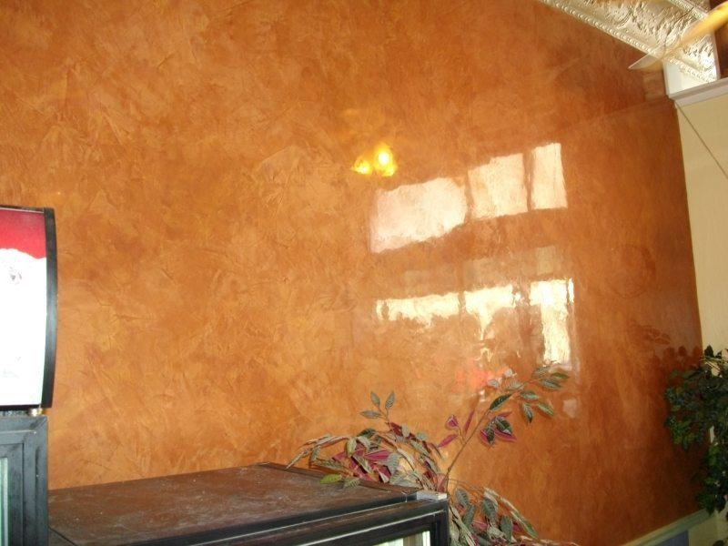 Покрытие стен декоративной штукатуркой