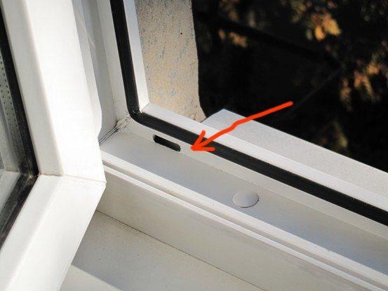Дренажная система окна