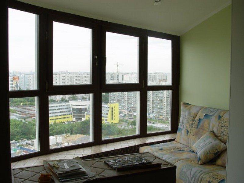 Панорамное окно на балкон