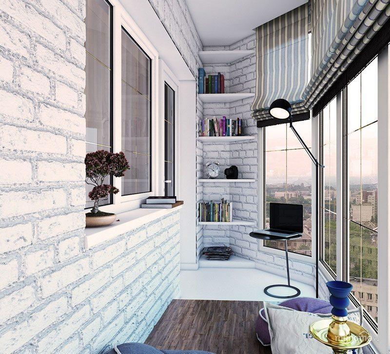 Дизайн лоджии с панорамными окнами