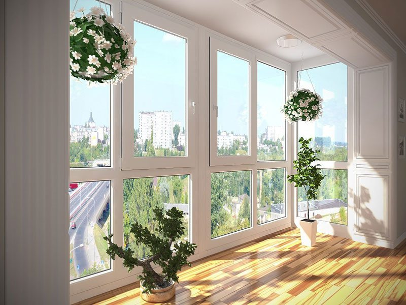 Панорамные окна на балкон