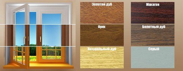 Цветовые оттенки краски для пластиковых окон