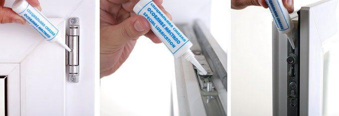 Смазывание креплений силиконом