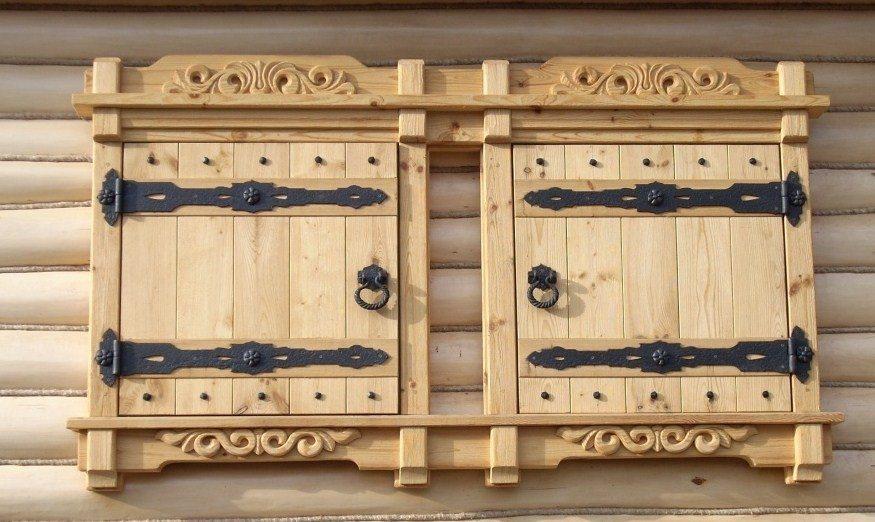 Одностворчатые деревянные ставни