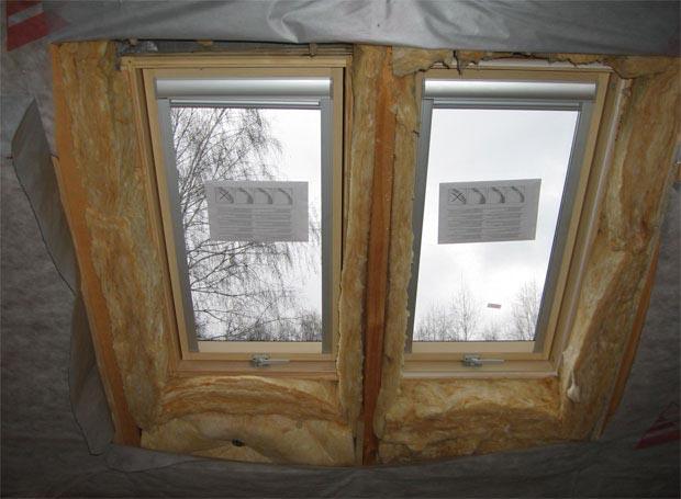 Утепление мансардного окна