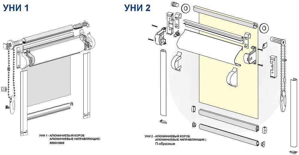 Монтаж рулонных жалюзи на пластиковые окна инструкция