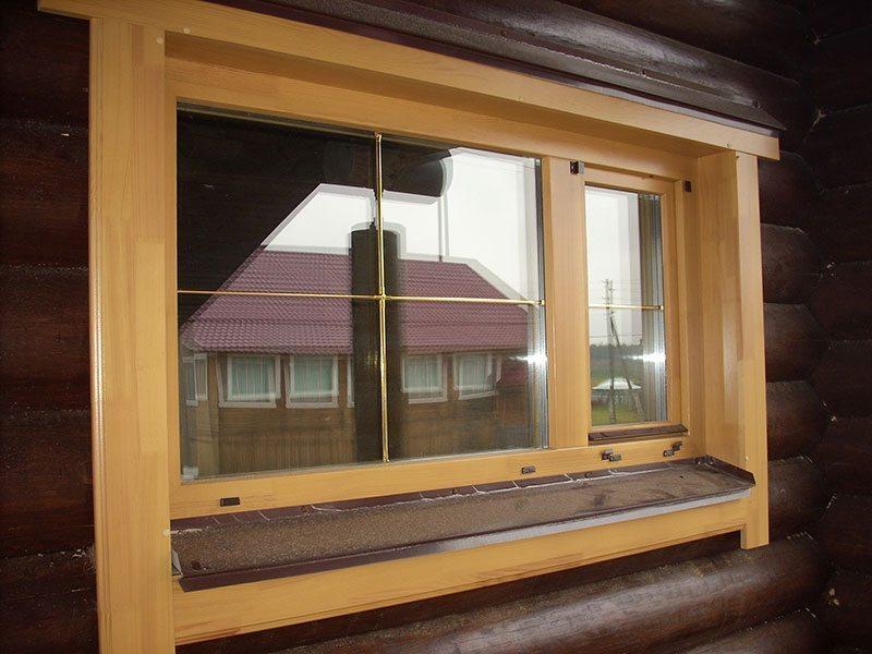Деревянные наружные откосы на окна