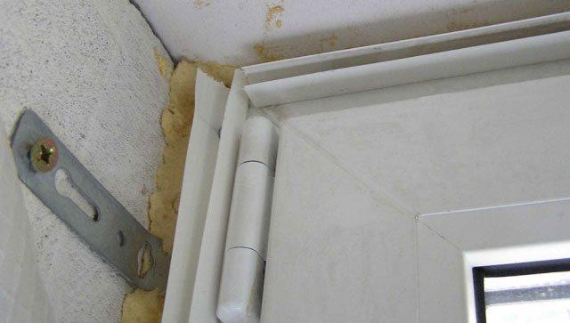 Установка пластиковых окон на пластины