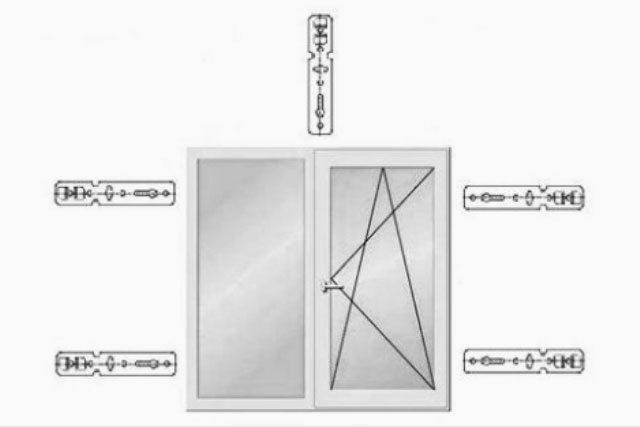 Схема установки анкерных пластин
