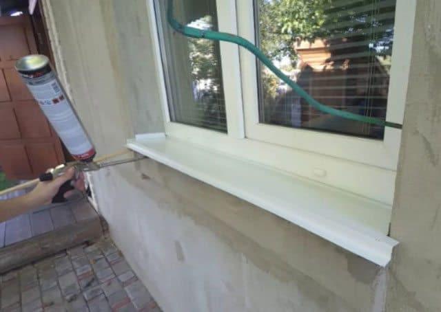 Монтаж отлива окна пвх