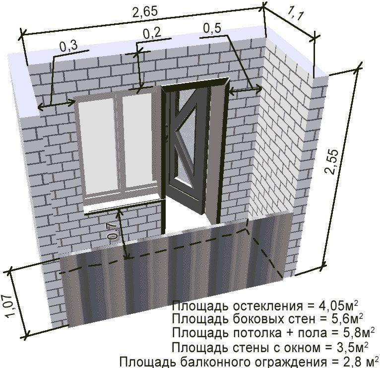 Замер балкона