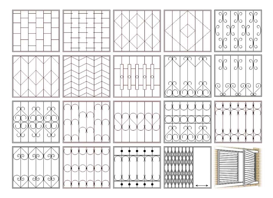 Разновидности конструкций решеток