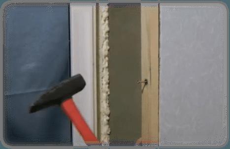Закрепление деревянного бруска