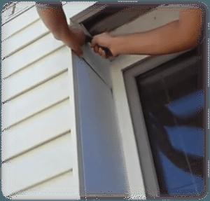 Установка сайдинга вокруг окна