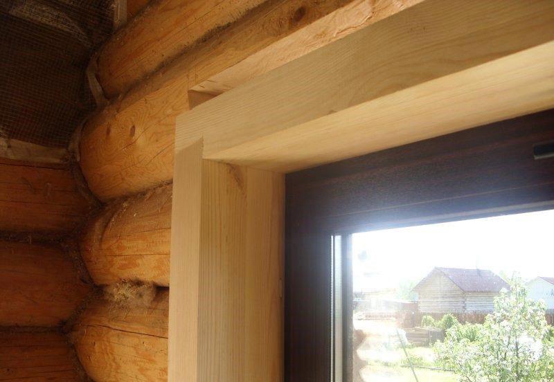 Внутренняя отделка пластиковых окон в деревянном доме
