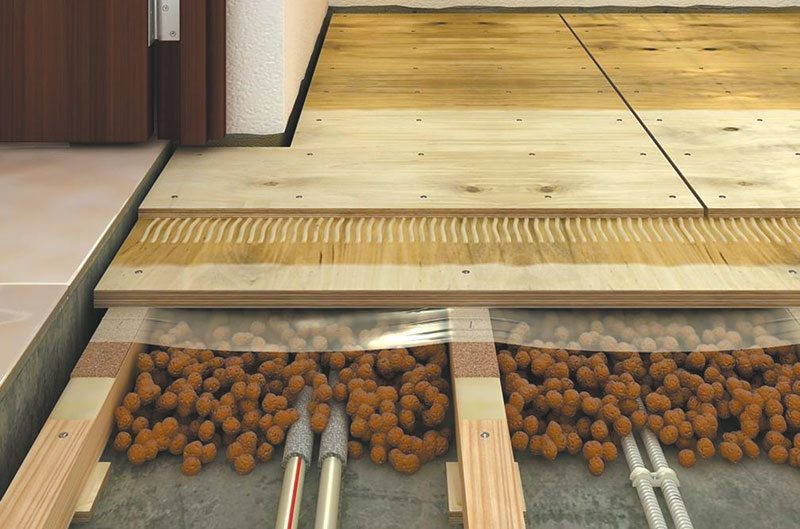 Монтаж деревянного пола на лагах