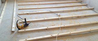 Устройство полов на деревянных лагах