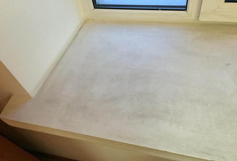 Ровный подоконник из бетона