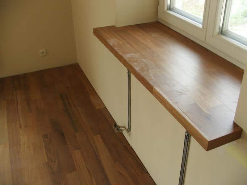 Готовый деревянный подоконник