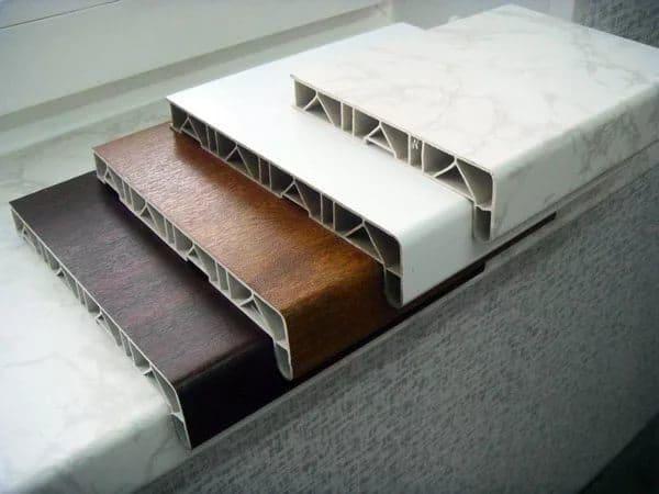 Ламинированные подоконники разных оттенков