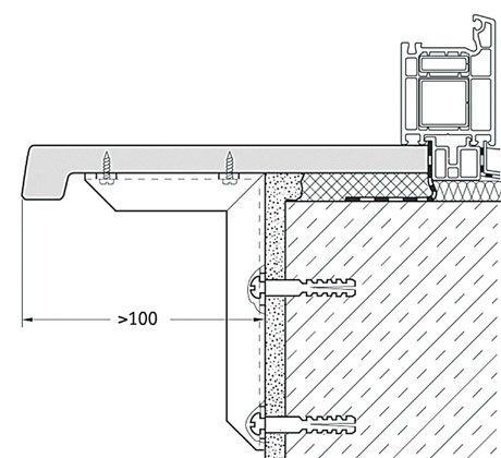Схема монтажа подоконника на кронштейн