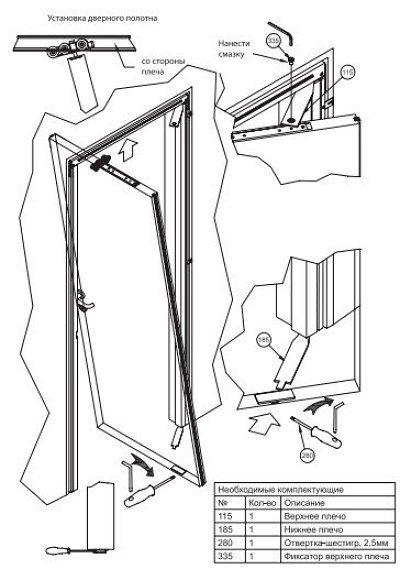 Рото двери механизм