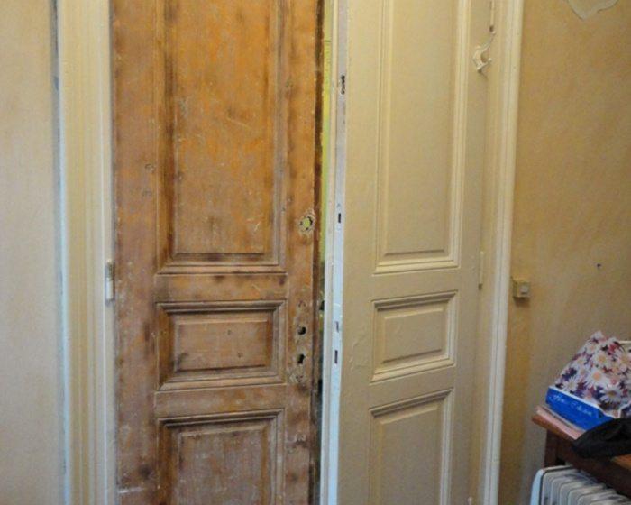 Двери до и после реставрации
