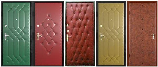 Вариант отделки двери искусственной кожей