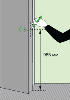 Разметка дверного полотна